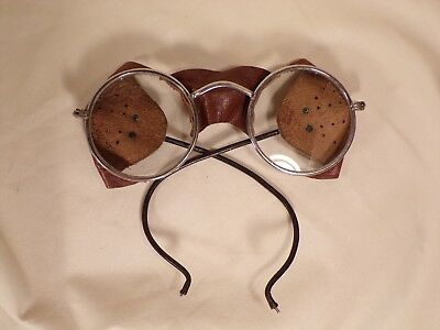 $112.05 • Buy Vintage Steampunk Auto Glasses Goggles Antique Driving Motorcycle Aviator Safety