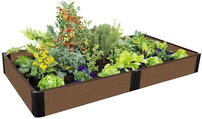 Raised Garden Bed 4 Ft. X 8 Ft. X 11 In. Rectangle Composite In Uptown Brown • 170.62£