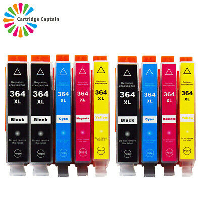 9x CHIPPED INK CARTRIDGES Compatible With HP 364XL PhotoSmart 5520 5510 6520 • 12.22£