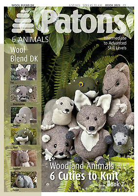 1x Patons Pattern Book Wool Blend DK Cute Animals 2 Sewing Craft Tool • 6.49£