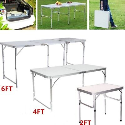 2/4/6FT Portable Folding Trestle Table Heavy Duty Plastic Camping Garden Party • 21.99£