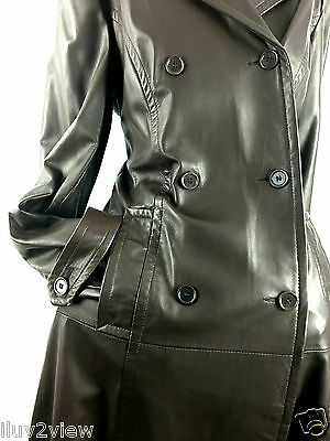 $ CDN334.99 • Buy Danier Leather Women's Double Breasted Trench Coat Brown Size US Small/UK.12-14