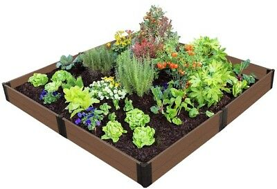 Raised Garden Bed 8 Ft. X 8 Ft. X 11 In. Expandable Composite In Uptown Brown • 186.72£