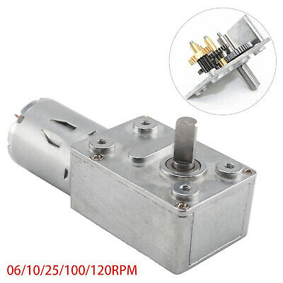 12V 0.6-120RPM Reversible High Torque Turbo Worm Geared Motor DC Motor UK • 7.79£