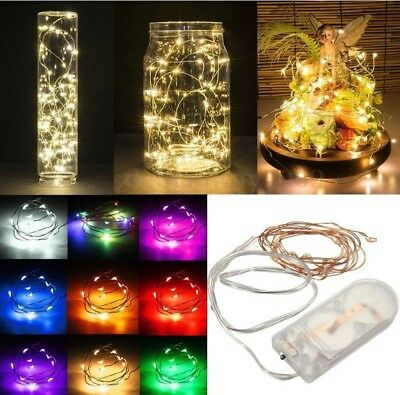 £1.99 • Buy 20/30/100 LED Battery Micro Rice Wire Copper Fairy String Lights Party White