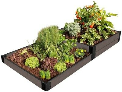Raised Garden Bed 4 Ft. X 8 Ft. X 11 In. Rectangle Composite Weathered Wood • 141.22£