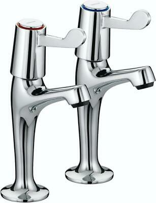 £20.75 • Buy Bristan VAL HNK C CD Value Lever High Neck Pillar Kitchen Taps Chrome Plated