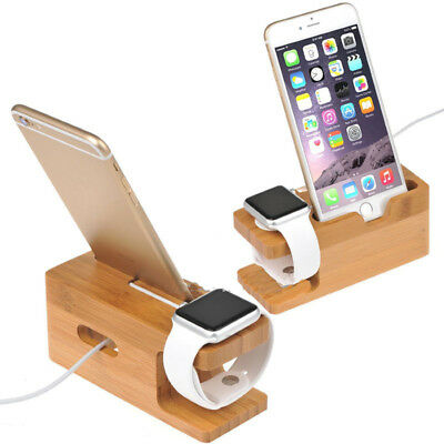 $ CDN6.18 • Buy 1Pcs Bamboo Charging Dock Station Charger Holder Stand For Apple Watch IPhone 6