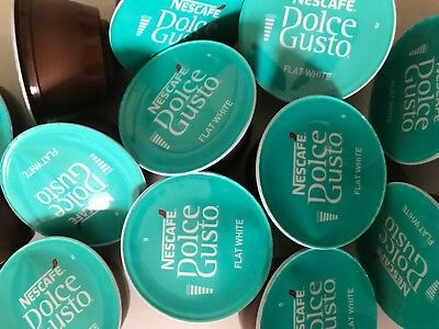 Nescafe Dolce Gusto Pods Flat White Coffee Pods 10,30,50,80,100 • 14.99£