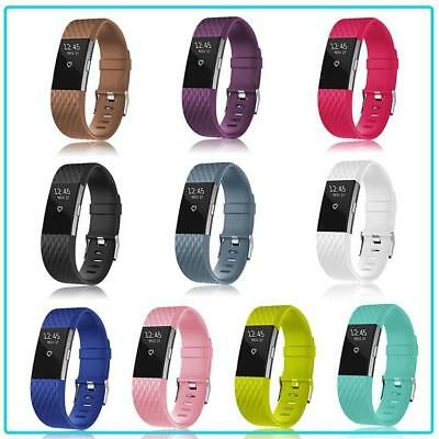 $ CDN5.20 • Buy Strap For Fitbit Charge 2 Smart Watch Band Replacement Secure UK Wristband Metal
