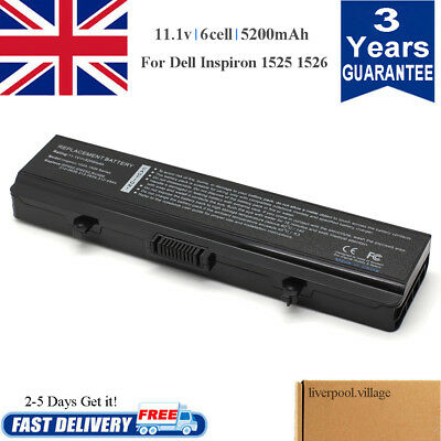 For DELL Inspiron 1440 1525 1526 1545 1750 X284G GW240 Battery K450N C601H HP297 • 12.49£