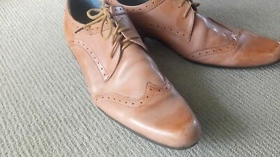 Betts Mens Leather Shoes Size 10 Tan Cowboy Latino Michael Jackson Dance Point • 20.28£