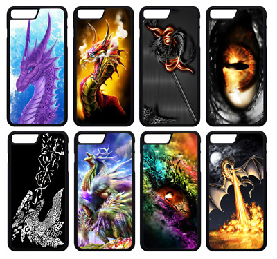 £4.99 • Buy DRAGON GOTHIC ABSTRACT SKULLS Phone Case Cover IPhone 4 5 SE 6 7 8 Plus X (A)