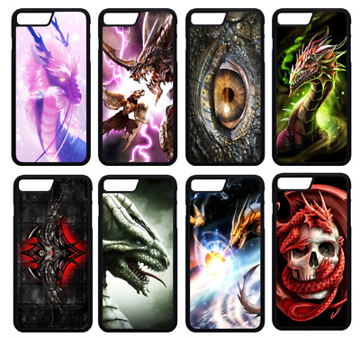 £4.99 • Buy DRAGON GOTHIC ABSTRACT SKULLS Phone Case Cover IPhone 4 5 SE 6 7 8 Plus X (S1)