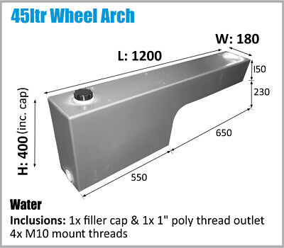 AU235 • Buy Nissan Colorado Ranger Dual Cab Ute Wheel Arch Water Tank 45L 4x4 STYLE SIDE 4WD