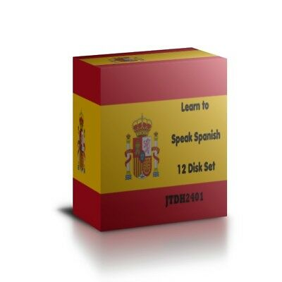 Learn To Speak SPANISH - Complete Language Training Course On 12 AUDIO CDs • 8.99£