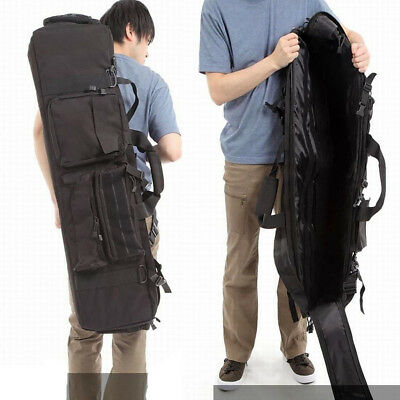 $48.63 • Buy 100cm Double Deck Gun Bag Tactical Luggage Military Fish Pouch For M249 Carrier