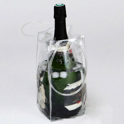 Ice Bag Wine Beer Champagne Bucket Bottle Cooler Foldable Carrier Quality PVC • 3.40£