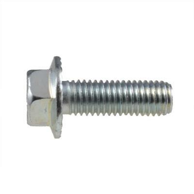 AU4.80 • Buy Hex Flange Bolt M6 (6mm) Metric Coarse Serrated Set Screw HT Class 8.8 Zinc