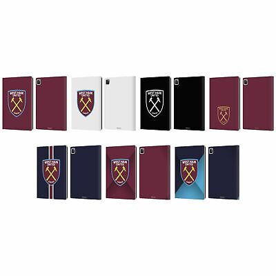 OFFICIAL WEST HAM UNITED FC CREST LEATHER BOOK WALLET CASE COVER FOR APPLE IPAD • 22.95£