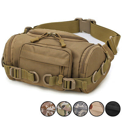 AU25.49 • Buy Mens Waist Bags Outdoor Nylon Crossbody Tactical Waterproof Motorcycle Bum Bag