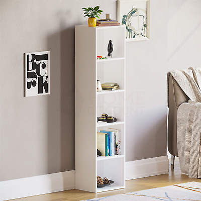 Oxford 5 Tier Cube Bookcase Display Shelving Storage Unit Wooden Stand White New • 28.95£