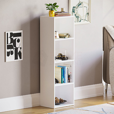 Oxford 4 Tier Cube Bookcase Display Shelving Storage Unit Wooden Stand White New • 21.95£