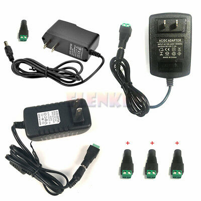 $6.65 • Buy AC100-240V To DC 12V 1A/2A/3A Power Supply Adapter Transformer For LED Strip US