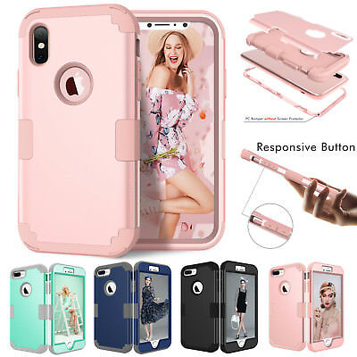 AU10.89 • Buy IPhone XS Max XR X 6 7 8 Plus Shockproof Armor Rubber Protective Hard Case Cover