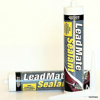 £11.30 • Buy Lead Mate Flashing Mastic Mortaring Silicone Sealant Roof Grey Led Roofing