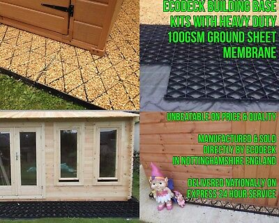 SHED & DRIVEWAY GRIDS +HEAVY DUTY WEED FABRIC PLASTIC POUROUS ECO BASE PAVING Em • 1.32£