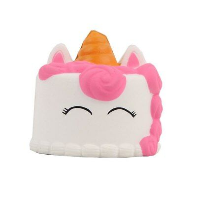 AU9.50 • Buy Jumbo  Kawaii Squishy Unicorn Narwhal Cake Taart Slow Rising Cake 8cm +gift Bag
