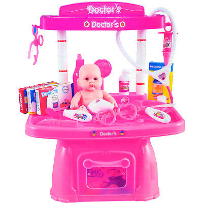 Doctor Set Doll Pretend Fun Gift With Accessories Educational Kids Play Nurse • 9.90£