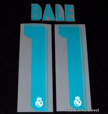 Real Madrid Bale 11 2017/18 Football Shirt Name/Number Set Sporting ID Home • 16.36$