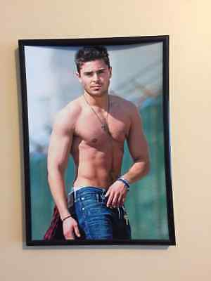 Zac Efron Framed  Poster Wall Art Print A4 260gsm • 13.99£