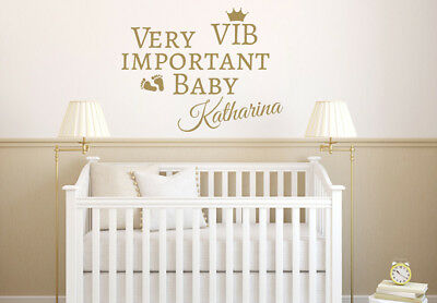 Very Important Baby Cot PERSONALISED BEDROOM Wall Art Vinyl Decal Sticker V160 • 8.95£
