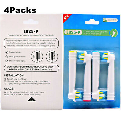 AU22.09 • Buy 16pcs Electric Toothbrush Replacement Heads For Braun Oral B Floss Action EB-25A