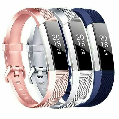 AU16.76 • Buy 3x Fitbit Alta HR Bands Fitness Watch Strap Band Silver/Rose-Gold/Blue