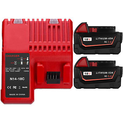 AU40.99 • Buy 18V Li-ion Battery & Charger For Milwaukee M18 48-11-1852 48-11-1828 48-59-1812