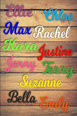 Personalised Wooden Name Plaques Words Letters Wall Door Sign We Do DISNEY 3mm • 5.94£