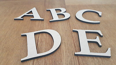 Wooden Medite Premium MDF Letters 6mm Thick, Wall Mounted, Crafts, Plaque, • 0.99£