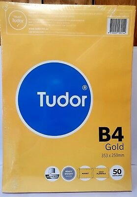 AU24.99 • Buy Tudor B4 Envelope Gold Pack Of 50 - AO140227