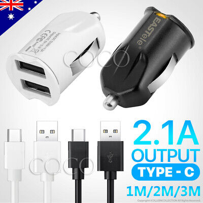 AU6.95 • Buy Rapid Charge USB Car Charger Type-C Cable For Samsung S10 S20 S9 Plus Note 10 5G
