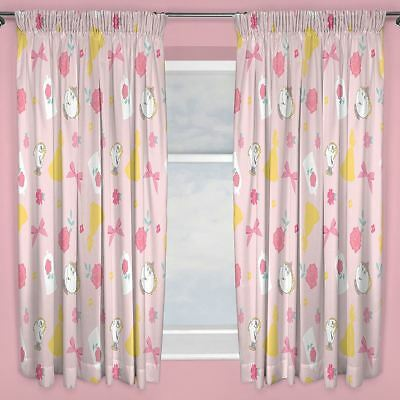 £14.90 • Buy Disney Princess Beauty And The Beast Curtains 54  Drop Pink Kids Bedroom