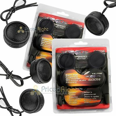 $ CDN11.37 • Buy Two Pairs Of 600W Super High Frequency Mini Car Dome Tweeters Built-In Crossover