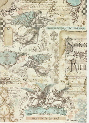 £1.89 • Buy Rice Paper - Music Angels - For Decoupage Scrapbook Craft
