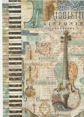 £1.89 • Buy Rice Paper - Violin - For Decoupage Scrapbook Craft