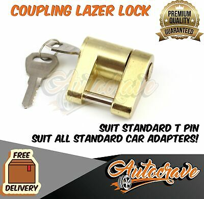 AU16.95 • Buy Coupling Laser Lock Hitch Lock Caravan Off Road Tregg Pin Lock Trailer Pad Lock