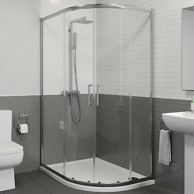 1200 X 900mm Right Hand Offset Quadrant Shower Enclosure Framed 8mm Safety Glass • 229.99£