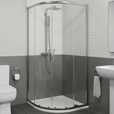 £259.99 • Buy 900mm X 900mm Quadrant Shower Enclosure Walk In Cubicle Framed 8mm Safety Glass